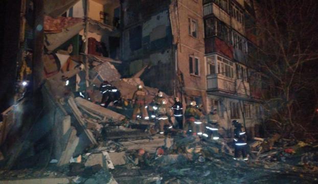 Kazakistanda apartman çöktü