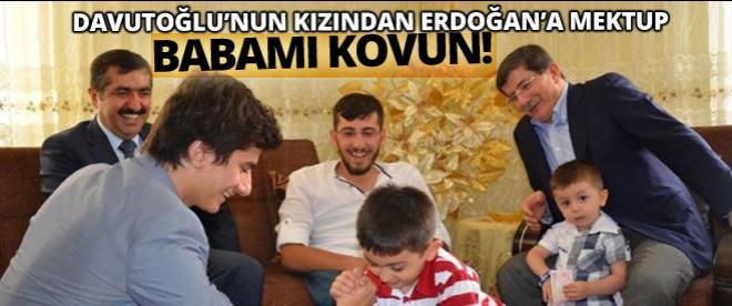 Davutoğlu'nun kızından Erdoğan'a mektup!