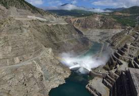 Keban Barajı'nda su seviyesinin yükselmesi