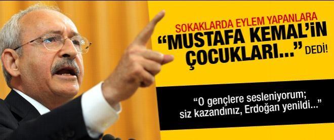 Eylemcileri Mustafa Kemal'in çocukları ilan etti