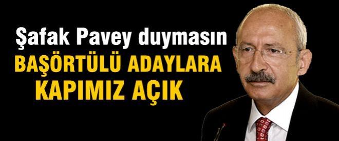 Kılıçdaroğlu: CHP'de başörtülü aday niye olmasın