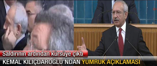 Kemal Kılıçdaroğlu'ndan yumruk açıklaması