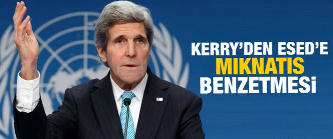 Kerry'den Esed'e mıknatıs benzetmesi