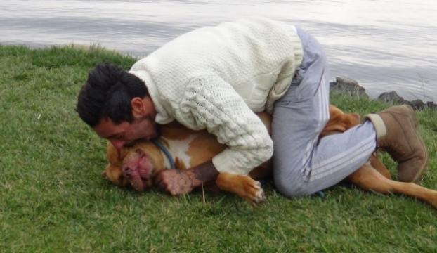 Tehlikeli olmadığını göstermek için köpeğini ısırdı