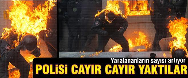 Polisi cayır cayır yaktılar