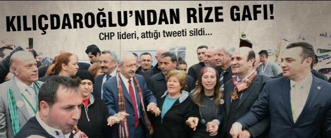 Kılıçdaroğlu'ndan Rize gafı!