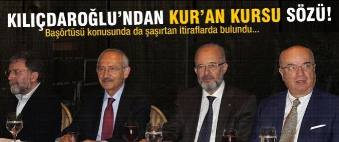 Kılıçdaroğlu'ndan başörtüsü itirafı