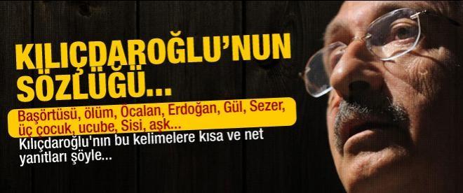 İşte Kılıçdaroğlu sözlüğü