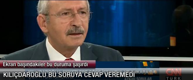 Kemal Kılıçdaroğlu'nun yanıt veremediği soru