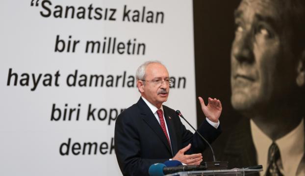 Kılıçdaroğlu, sanatçılarla bir araya geldi