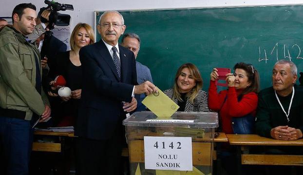 CHP Genel Başkanı Kılıçdaroğlu oyunu kullandı