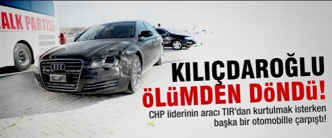 Kılıçdaroğlu trafik kazası geçirdi!
