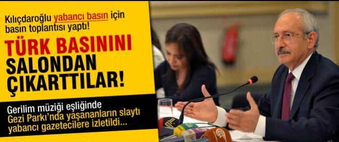 Kılıçdaroğlu'nun toplantısında görüntü yasağı