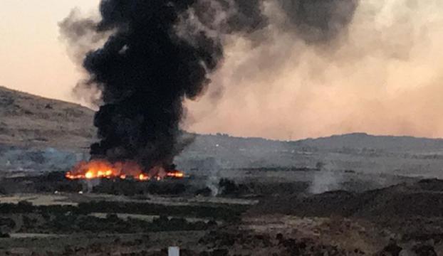Kiliste askeri alanda yangın