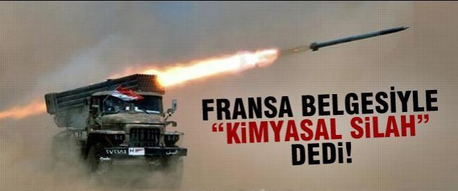 Fransa kimyasal silah raporunu açıkladı