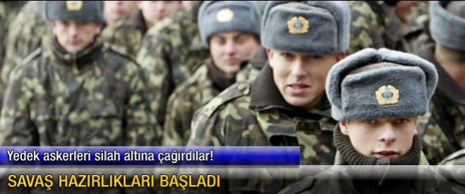 Ukrayna'dan savaş hazırlığı