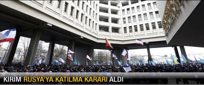 Kırım'da parlamentodan flaş karar
