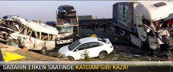Konya'da trafik kazası: 7 ölü
