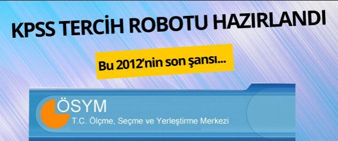 KPSS tercih (2014) robotu yayında!
