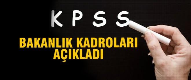 KPSS ile alınacak kadrolar açıklandı