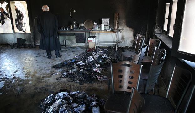 CHP İlçe Başkanlığı binası kundaklandı