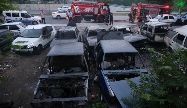 İstanbulda 6 otomobil kundaklandı