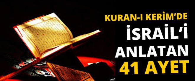 Kuran-ı Kerim'de İsrail'i anlatan 41 ayet