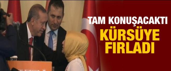 Erdoğan'ın yanına gelen kız ne söyledi?