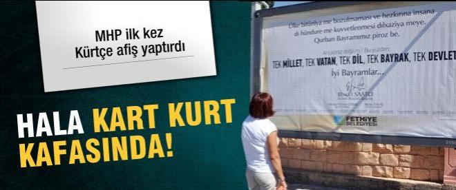 MHP'li Fethiye belediyesinden Kürtçe bayram afişi