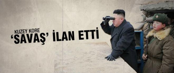 Kuzey Kore 'savaş' ilan etti