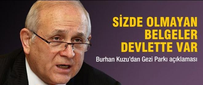 Kuzu'dan çarpıcı Gezi açıklaması