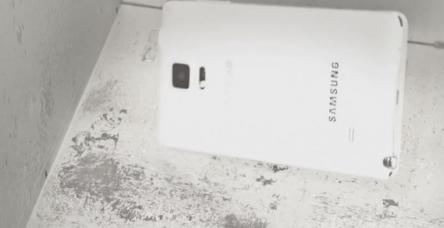 Galaxy Note 4 için düşürme testi