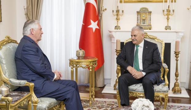 Başbakan Yıldırım ABD Dışişleri bakanı Tillerson ile görüştü