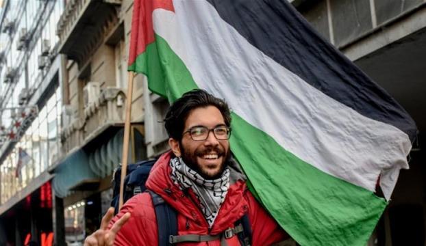 Filistin için İsveçten yola çıkan Ladraa İstanbulda