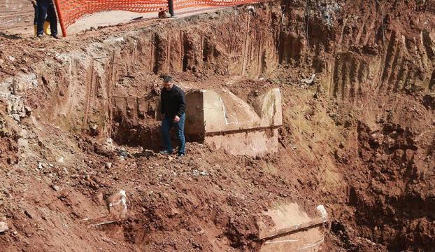 Kocaelide Roma dönemine ait lahit mezarlar bulundu