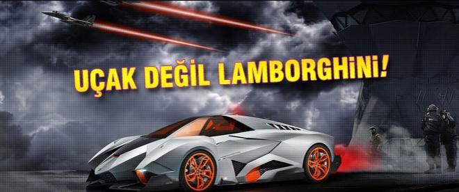 Uçak değil Lamborghini!