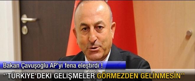 Bakan Çavuşoğlu AP'yi fena eleştirdi
