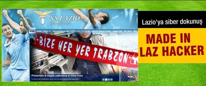 Lazio'nun sitesinde bize her yer Trabzon