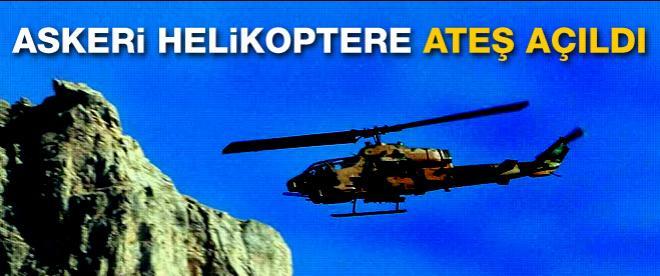 Askeri helikoptere ateş açıldı