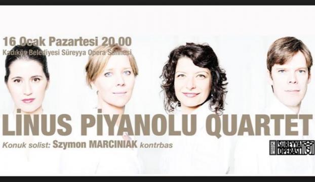 Linus Piyanolu Quartet, 16 Ocakta konser verecek