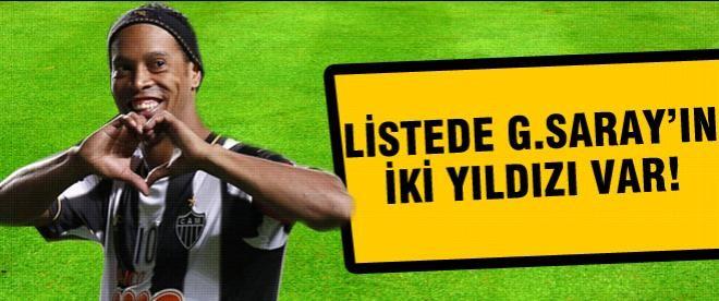 Listede Galatasaray'ın 2 yıldızı da var...