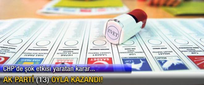 AK Parti (13) oyla kazandı!