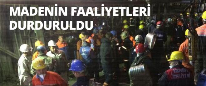 Soma'daki madenin faaliyeti durduruldu