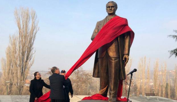 Makedonyada Atatürk anıtının açılışı yapıldı