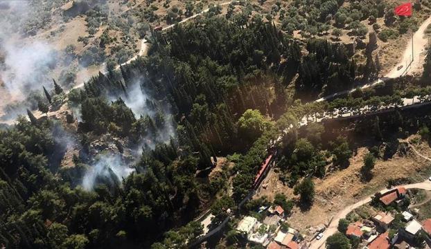 Manisada Spil Dağı eteklerinde orman yangını çıktı