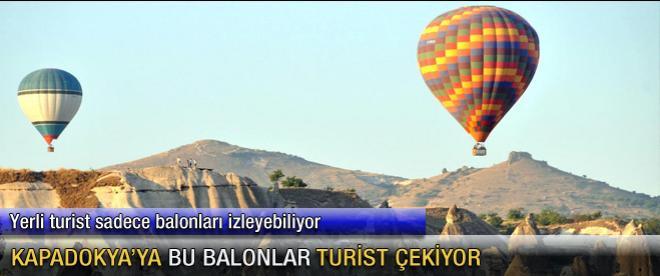 Sıcak hava balonları, turist sayısını artıyor