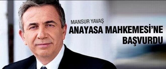 Mansur Yavaş, Anayasa Mahkemesi'ne başvurdu