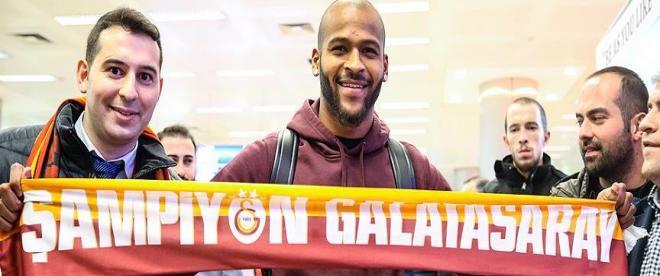 Galatasarayın yeni transferi Marcao İstanbula geldi