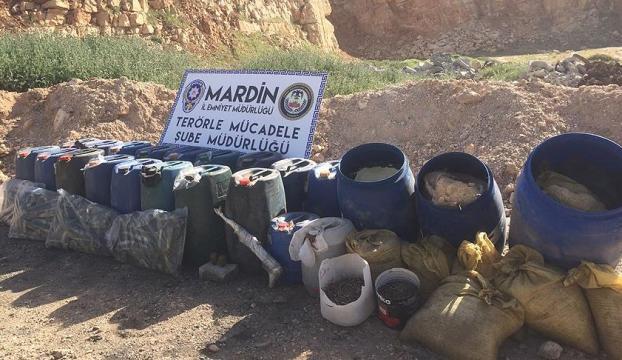 Mardinde 500 kilogram patlayıcı ele geçirildi