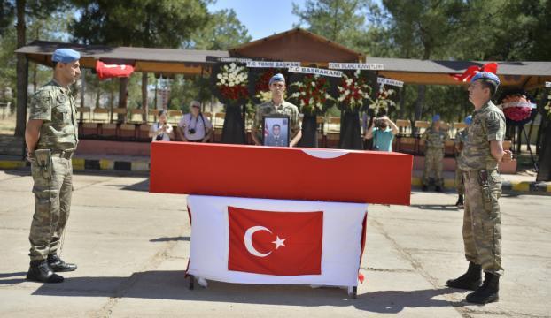 Mardinde şehit asker için tören